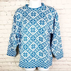 VTG CABIN CREEK PETITE winter crew neck sweater M